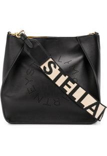 Stella Mccartney Bolsa Transversal Stella Com Logo - Preto