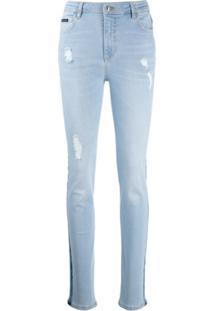 Philipp Plein Calça Jeans Slim - Azul