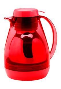 Bule Térmico Com Gatilho Cozy 17 X 14,5 X 20,5 Cm 700 Ml Vermelho Transp C Vermelho Compacto Coza