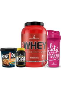Kit Power Whey Pote + Powerbcaa + Pasta De Amendoim + Coqueteleira - Feminino