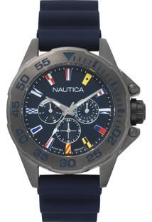 ca382d53642 ... Relógio Nautica Masculino Borracha Azul - Napmia008