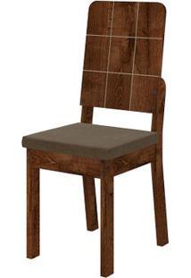Cadeira Dama 2 Peças - Pena Marrom - Rústico Malbec