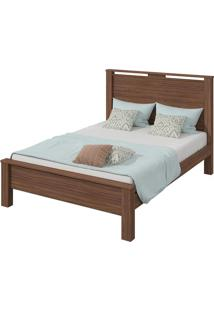 Cama Royal Casal (Dupla Face) Imbuia/Off White/Imbuia
