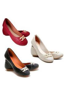 Kit 3 Pares Sapatilhas Feminina Estilo Shoes