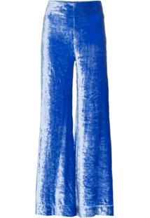 Deitas Calça De Veludo 'Venus' - Azul