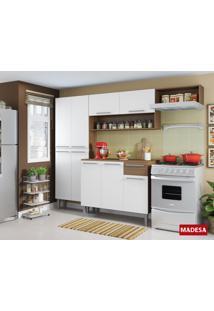 Cozinha Madesa 4 Pçs 9 Portas E 1 Gaveta Emily - Rustic/ Branco