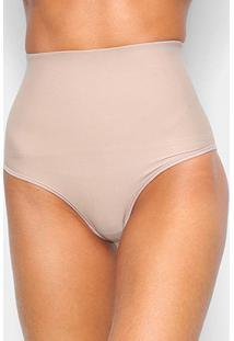 Cinta Modeladora Dilady Hot Pant Feminina - Feminino-Marrom