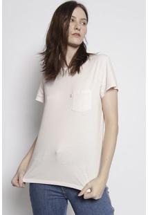 Camiseta Lisa Com Bolso - Rosa Clarolevis