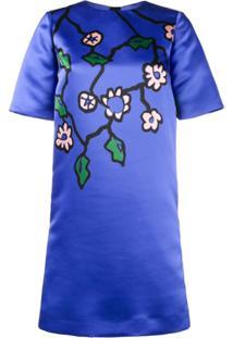 Marni Vestido Com Estampa Floral - Azul