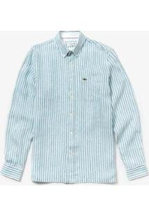 Camisa Lacoste Regular Fit Masculina - Masculino-Azul