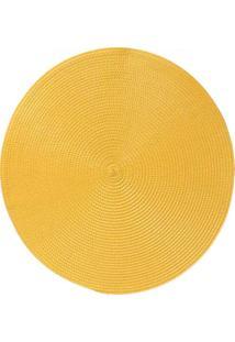 Jogo Americano Redondo Amarelo Ouro R-8108640020