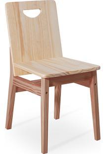 Cadeira De Madeira Tucupi 40X51X81Cm - Acabamento Stain Nozes E Natural