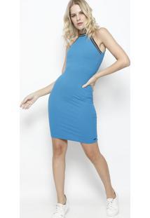 dbd3e6e0e1 ... Vestido Canelado - Azul- Colccicolcci