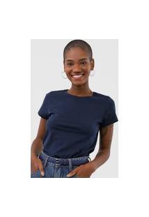 Camiseta Rovitex Lisa Azul-Marinho