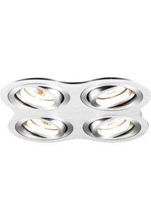 Spot Embutir Redondo 2,5Cmx17Cm 160W Gu10 Bella Iluminação - Caixa Com 3 Unidade - Alumínio