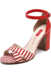 Sandália Dakota Salto Grosso Vermelha