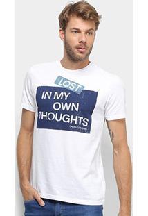 Camiseta Calvin Klein Lost Masculina - Masculino-Branco