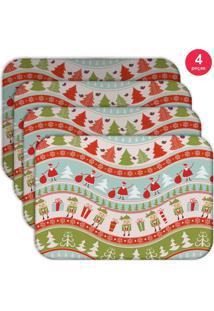 Jogo Americano Love Decor Wevans Happy Noel Kit Com 4 Pçs