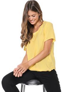 Blusa Hering Pespontos Amarela