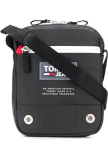 Tommy Hilfiger Logo Patch Messenger Bag - Preto