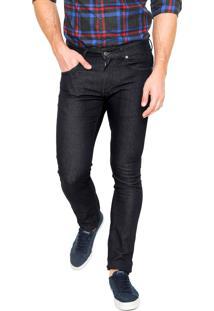 Calça Jeans Lacoste Skinny Básica Azul