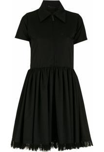 Andrea Bogosian Vestido Curto De Lã Com Renda - Preto