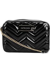 Bolsa Petite Jolie Mini Bag Nic Zig Zag Feminina - Feminino-Preto