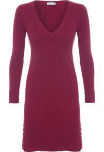 Vestido Botões Laterais Market 33 - Vinho