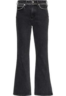 Simon Miller Cropped Kick Flare Jeans - Cinza
