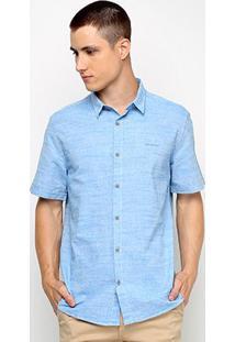 Camisa Calvin Klein Malhada Masculina - Masculino-Azul Claro
