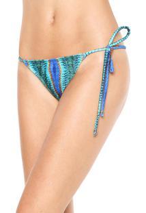 Calcinha Blue Man String Tahity Verde/Azul