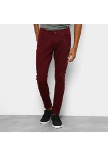Calça Ecko Color Skinny Masculina - Masculino-Vinho
