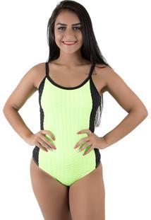 Body Diluxo Decote Nas Costas Verde Neon