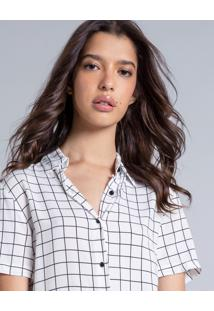 Camisa Manga Curta Estampa Grid - Lez A Lez