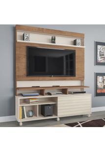 Estante Para Tv Até 55 Polegadas Atlanta 1 Porta Flex Canelato/3D Natura - Atualle Móveis