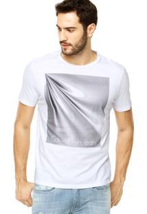 Camiseta Calvin Klein Jeans Abstrata Branca