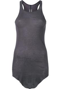 Rick Owens Ribbed Tank Bodysuit - Cinza