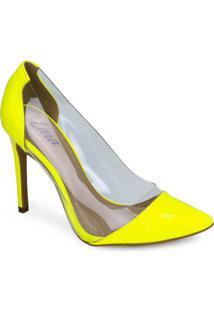 Sapato Scarpin Lara Vinil Verde