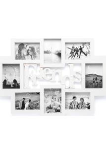 Painel De Fotos Com Led 73X56Cm Branco - Ludi