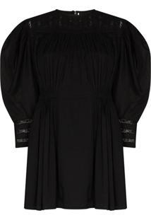Mimi Prober Vestido Austen Gigi Com Bordado Em Renda - Preto