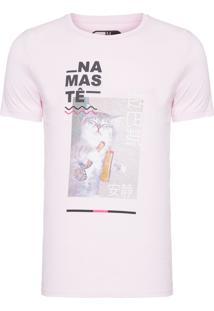 Camiseta Masculina Namaste - Rosa