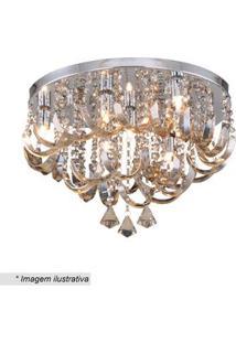 Hevvy Plafon Com Ornamentos Cristal 30Xã¸45Cm Bivolt