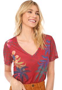 Camiseta Cantão Coqueiros Vinho/Azul-Marinho