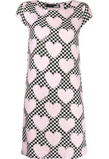 Love Moschino Heart Print T-Shirt Dress - Rosa