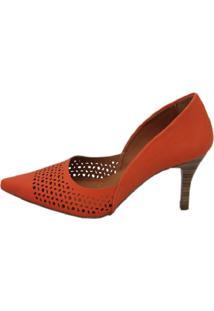 Scarpin Cristhi Shoes Laser Laranja