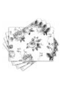 Jogo Americano - Flores Com 4 Peças - 646Jo