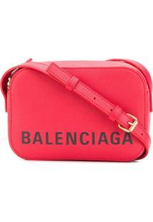 Balenciaga Bolsa Transversal Ville Xs Aj - Vermelho