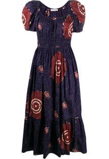 Ulla Johnson Floral Abstract Print Dress - Azul