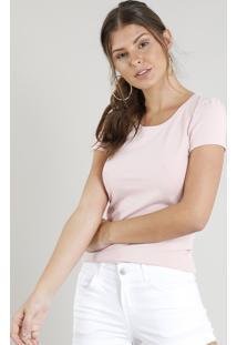 Blusa Algodao Elastano feminina  4289c9196f036