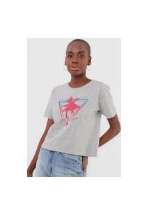 Camiseta Guess Palm Tree Cinza